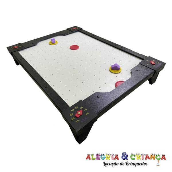 Locação mesa air game baby